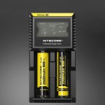 Nitecore D2 Intelligent Digi Smart Charger with LED Indicator for 14500, 16340 (RCR123), 18650, 22650, 26650, Ni-MH and Ni-Cd (A