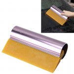 Car Auto Body Surface Window Wrapping Film Yellow Rubber Scraper Sticker Tool Black with Pink Metal Handle