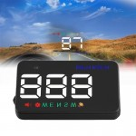 Geyiren A5 HUD 3.5 inch Car Head Up Display with GPS System, Two Mode Display, Light Sensors, KM/h MPH Speed, Compass, Speed Ala