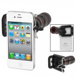 Universal 8X F1.1 Zoom Optical Digital Camera Telescope with Adjusted Holder for iPhone 4 & 4S / Below 7cm Wide Mobile Phones(Bl