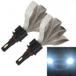 2 PCS S7 9005 40W 3200 LM 6000K IP68 Car Headlight with 2 COB Lamps and Heat Dissipation Cable, DC 9-30V(White Light)