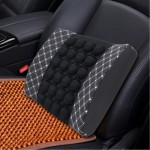 Four Season Chemical Fiber Wrapping Lumbar Seat Relaxation Waist Support Cushion for Car Office Family (White)