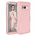 For Samsung Galaxy S8 + / G9550 Dropproof 3 in 1 Silicone sleeve for mobile phone(Pink)
