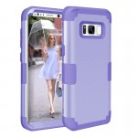 For Samsung Galaxy S8 + / G9550 Dropproof 3 in 1 Silicone sleeve for mobile phone(Purple)