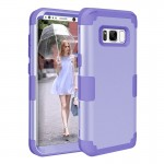For Samsung Galaxy S8 Dropproof 3 in 1 Silicone sleeve for mobile phone (Purple)
