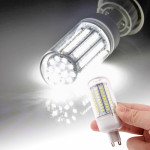 G9 2835 SMD 8.0W AC 220V 660LM LED Corn Light Lamp with Transparent Cover (White Light 102 LEDs)