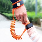 Kids Safety Harness Child Leash Anti Lost Wrist Link Traction Rope Anti Lost Bracelet, Length: 2.5m (Orange)