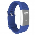 For Fitbit Charger 2 Bracelet Watch Diamond Texture TPU Watchband, Full Length: 23cm(Blue)