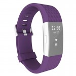 For Fitbit Charger 2 Bracelet Watch Diamond Texture TPU Watchband, Full Length: 23cm(Purple)