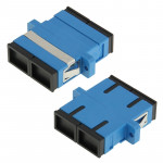 SC-SC Multimode Duplex Fiber Flange / Connector / Adapter / Lotus Root Device(Blue)