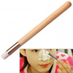 1 PC Imported Fiber Hair Wooden Handle Washing Nose Pore Cleansing Brush
