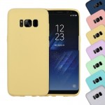 For Samsung Galaxy S8 Lovely Candy Colors Soft TPU Protective Case (Yellow)