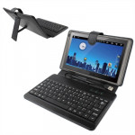 9.7 inch Universal Tablet PC Leather Case with USB Plastic Keyboard(Black)