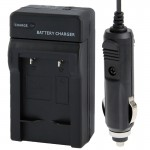 2 in 1 Digital Camera Battery Travel & Car Charger for Canon NB-10L(Black)