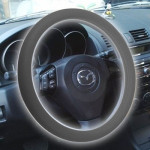 Silicone Rubber Car Steering Wheel Cover, Outside Diameter: 36cm(Grey)