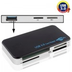 Lecteur de cartes USB 3.0 Super Speed 5Gbps, carte CF / SD / TF / M2 / XD / MS de coque en plastique - Wewoo