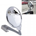 Vehicle Front Blind Area Wide-angle Adjustable Right Side Observation Mirror (Silver)