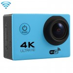 F60 2.0 inch Screen 170 Degrees Wide Angle WiFi Sport Action Camera Camcorder with Waterproof Housing Case, Support 64GB Micro SD Card(Blue)