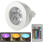 MR16 5W RGB LED Light Bulb with Remote Controller, Luminous Flux: 400-450lm