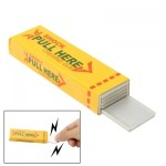 Farce & attrape jaune Shock Chewing Gun Pratique Joke Drôle Trick Shock Toy - Wewoo