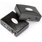 HDMI to VGA Converter with Audio (FY1322)(Black)