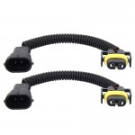 2 PCS H11 Car HID Xenon Headlight Male to Female Conversion Cable