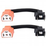 2 PCS H4 Car HID Xenon Headlight Male to Female Conversion Cable with Ceramic Adapter Socket