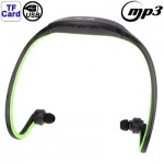 Sport MP3 Player Headset with TF Card Reader Function, Music Format: MP3 / WMA / WAV (Light Green)