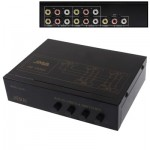 4-Way Video & Audio AMP Splitter with Switch, 4 Inputs, 1 Output (JM-VA401)