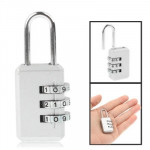 3 Digit Resettable Combination Security Travel Lock(Silver)