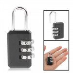 3 Digit Resettable Combination Security Travel Lock(Black)