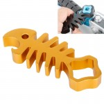 TMC Fishbone Style Aluminium Tighten Wrench Nut Spanner Thumb Screw Tool for GoPro Hero 4 / 3+ / 3 / 2 / 1(Gold)