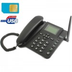 2.4 inch TFT Screen Fixed Wireless GSM Business Phone, Quad band: GSM 850/900/1800/1900Mhz(Black)