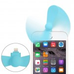 3.5 inch Fashion Portable 8 Pin USB Phone Mini Fan for iPhone 6 & 6 Plus / iPhone 5 & 5S / iPad Air 2 & Air(Blue)