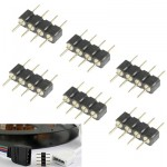 4 Pin Male Connector for RGB LED SMD Strip Light (100pcs in one packaging, the price is for 100pcs)