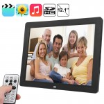 12.1 inch TFT LCD Display Multi-media Digital Photo Frame with Music & Movie Player / Remote Control Function, Support USB / SD