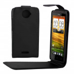 High Quality Leather Case for HTC One X / S720e(Black)