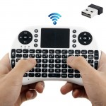 Rii 2.4GHz 92 Keys Mini Wireless Keyboard Mouse Combo with Touchpad(White)