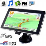 7.0 inch TFT Touch-screen Car GPS Navigator, Built in 4GB Memory, Mini USB Port, Touch Pen, Voice Broadcast, FM Radio function,