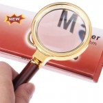 60mm Handheld Magnifier with Wooden Handle