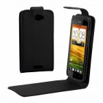 High Quality Leather Case for HTC One S(Z520e)(Black)