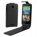 Vertical Flip Magnetic Button PU Leather Case for HTC Desire 510