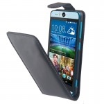 Vertical Flip Magnetic Button Leather Case for HTC Desire Eye / M910(Black)