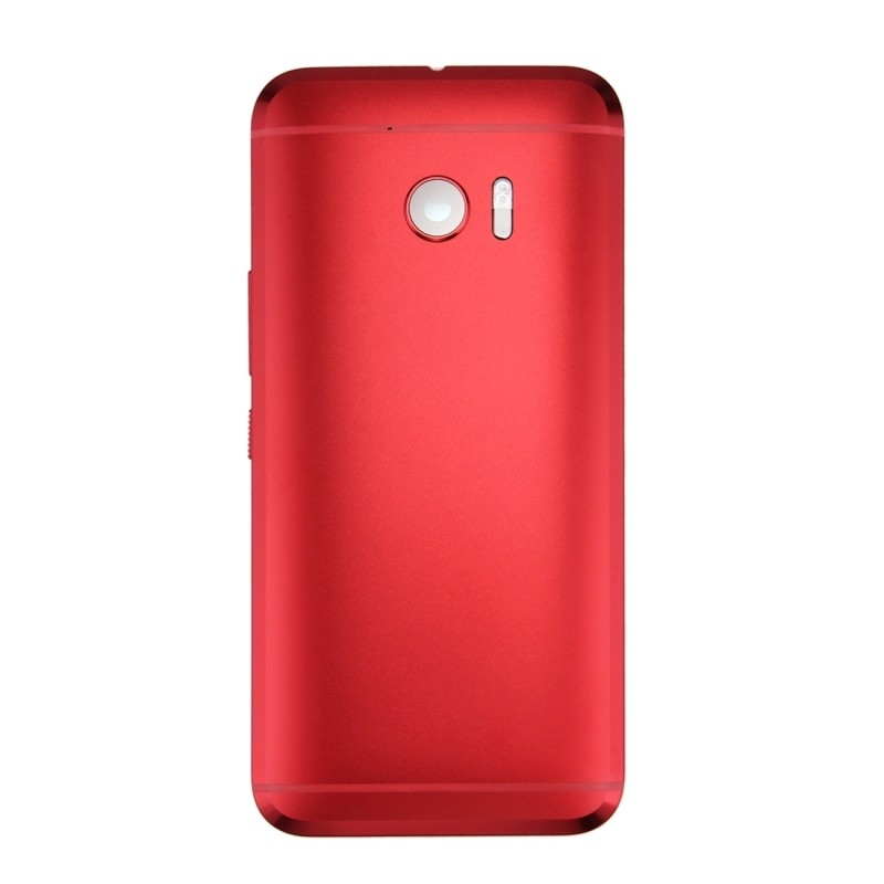 iPartsBuy for HTC 10 / One M10 Full Housing Cover (Front Housing LCD Frame Bezel Plate + Back Cover)(Red)