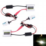 DC12V 35W 2x H3 Slim HID Xenon Light, High Intensity Discharge Lamp, Color Temperature: 6000K
