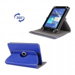 Litchi Texture 360 Degree Rotatable Universal Leather Case with Sleep / Wake-up & Holder for 7.0 inch Tablet PC (Dark Blue)