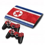 North Flag Pattern Decal Stickers for PS3 Game Console