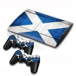 Scottish Flag Pattern Decal Stickers for PS3 Game Console