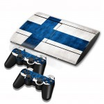 Finnish Flag Pattern Decal Stickers for PS3 Game Console