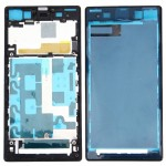 iPartsBuy Front Housing LCD Frame Bezel Plate Replacement for Sony Xperia Z1 / C6902 / L39h / C6903 / C6906 / C6943(Black)
